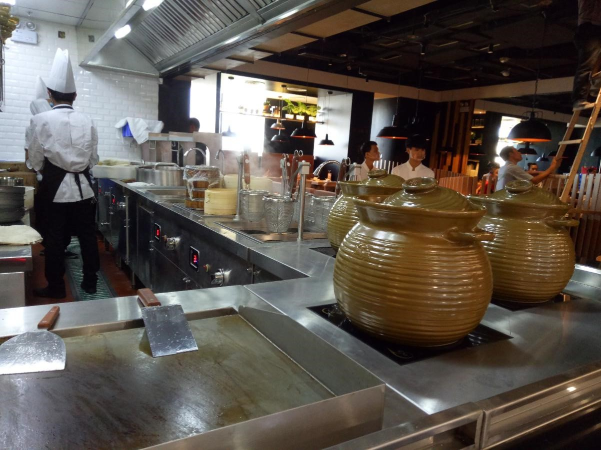 Commercial induction cooktops for restaurant